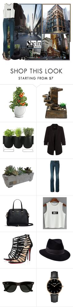 """""""Shein.com - Contest!"""" by asia-12 ❤ liked on Polyvore featuring Balmain, Potting Shed Creations, Fulton, Alpine, Authentics, ROTD Creations, J Brand, Christian Louboutin, Penmayne of London and Ray-Ban"""