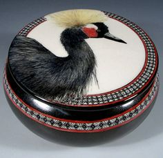 Crowned Crane Jar by Nan Hamilton