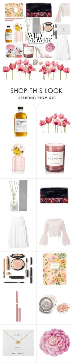 """""""wild."""" by ninasater ❤ liked on Polyvore featuring Fig+Yarrow, Schick, Marc Jacobs, Byredo, The White Company, FOSSIL, Vince, Rifle Paper Co, Stila and Estella Bartlett"""