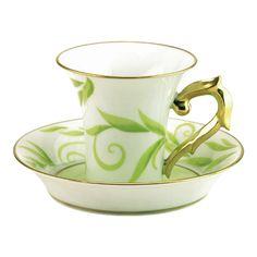 Tasse et soucoupe café 10 cl en porcelaine de la collection Frivole Bernardaud