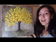 Peindre un Arbre - Peinture Acrylique Facile - YouTube