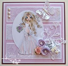 Another gorgeous card featuring an adorable Saturated Canary digi stamp <3