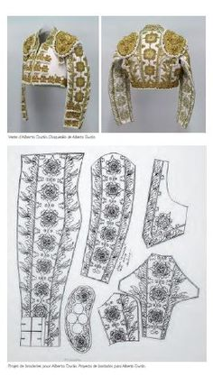 Costume de Lumières/Suits of Lights - Alberto Duràn - Design by Romain Mittica Matador Costume, Embroidery Patterns, Sewing Patterns, Daphne Costume, Cosplay Tutorial, Belly Dance Costumes, Pattern Cutting, Elegant Outfit, Historical Clothing