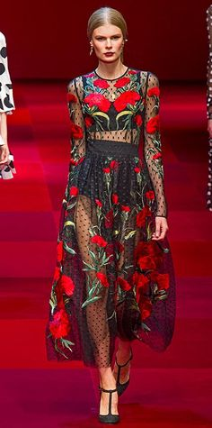 Dolce & Gabbana Runway Looks We Love: London, Milan, and Paris Fashion Weeks - Spring/Summer 2015 from #InStyle