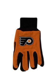 Philadelphia Flyers Two-Tone Gloves by WinCraft. $5.65. Comfort and style come together in the best selling sport utility glove. Made of heavy jersey cotton and a rubber dot palm for a sure grip.. Save 57%!