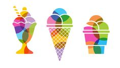 Greg Melander - FINO IDENTITY I love this colorful identity... Ice Cream Logo, Ice Cream Art, Ice Cream Design, Identity Design, Logo Design, Web Design, Colorful Ice Cream, Coffee Shop Logo, Gelato Shop