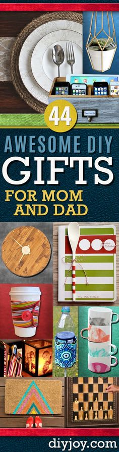 DIY Gifts for Mom and Dad - Homemade Christmas Gift Ideas for Your Parents. Cool Gift Ideas to Make for Your Mother and Father Gifts for parents 44 DIY Gift Ideas For Mom and Dad Diy Christmas Gifts For Dad, Diy Gifts For Mom, Homemade Gifts, Cool Gifts, Christmas Crafts, Parent Gifts, Mom And Dad, Making Ideas, Dyi