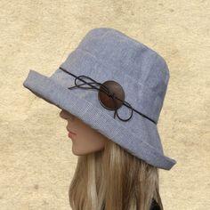 fe632d57 Suns hats women, Sun cloche hats, Cotton womens hats, Summer brim hat,  Beach summer hat, Hats for su