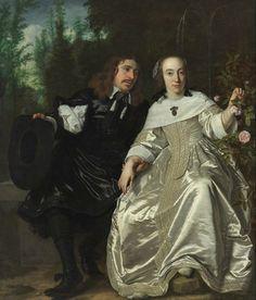 Bartholomeus van der Helst (Haarlem 1613 - Amsterdam 1670), Abraham del Court and His Wife Maria de Kaersgieter, 1654. Oil on canvas, 172 x 146.5 cm . Museum Boijmans Van Beuningen, Rotterdam. Courtesy, Museum of Fine Arts, Boston.