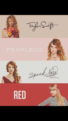 Taylor Swift, Fearless, Speak now, Red