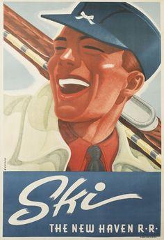 SKI / NEW HAVEN R.R. Circa 1940.