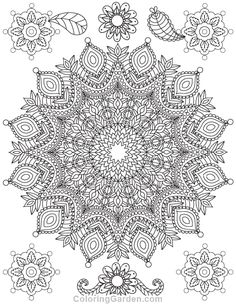 Free printable mandala adult coloring page. Download it in PDF format at http://coloringgarden.com/download/mandala-coloring-page/
