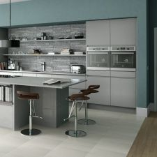 The Mackintosh Integral Gloss Grey kitchen comes in a modern style with a gloss finish. Browse the kitchen features and find a retailer near you. Grey Gloss Kitchen, Black Kitchen Cabinets, Kitchen Cabinet Colors, Kitchen Colors, Kitchen Shop, New Kitchen, Kitchen Interior, Kitchen Decor, Handleless Kitchen