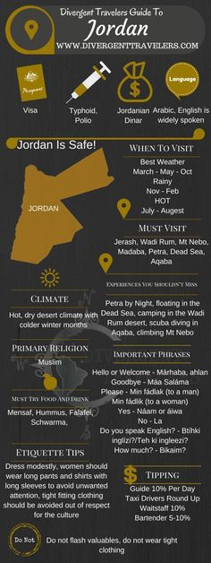 Divergent Travelers Travel Guide, With Tips And Hints To Jordan. This is your ultimate travel cheat sheet to Jordan. Click to see our full Jordan Travel Guide from the Divergent Travelers Adventure Travel Blog