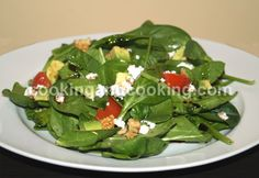 Yummy salad. Add chicken and you have a meal!