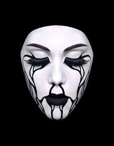 #maquillage #netb #contraste #noiretblanc #beauté