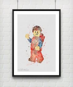 Hey, I found this really awesome Etsy listing at https://www.etsy.com/listing/217080221/lego-man-watercolor-art-print-baby-boy