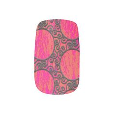 Scrolled Frames Pattern Minx Nail Wraps  $18.95  by MuralsandMoreGallery  - custom gift idea
