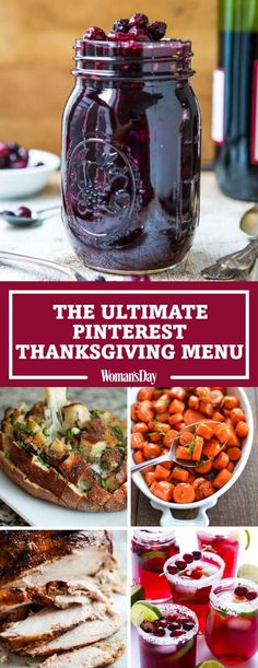 Feast your eyes on the 30 most popular Thanksgiving recipes on Pinterest. Everyone at your Thanksgiving dinner will be reaching for the Bloomin' Onion Bread side dish. Top your turkey with Cabernet Cranberry and Blueberry Sauce as a delicious dressing.