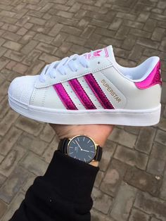 Womens Mens Trainers Lace-up Superstars Striped Sneakers Sports Running Shoes Cute Sneakers, Cute Shoes, Me Too Shoes, Shoes Sneakers, Sneakers Fashion, Fashion Shoes, Trendy Womens Shoes, Adidas Shoes Women, Melissa Shoes