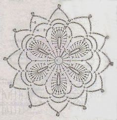 FREE DIAGRAM ~ Handmade Anabelia: Crochet lace doilies and motifs