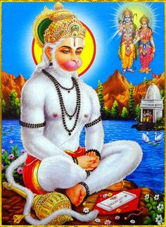 "☀ SHRI HANUMAN ॐ ☀ Please read or listen to ""Bhagavad Gita as it is"" online: http://gitopanishad.com/"