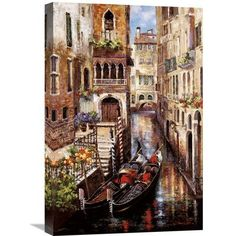 """Global Gallery 'Italian Love Story' by James Lee Painting Print on Wrapped Canvas Size: 24"""" H x 16"""" W x 1.5"""" D"""