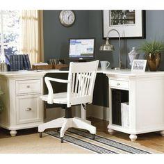 Homelegance Hanna Corner Desk In White