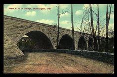 "paperinkgraphics id: del 13 B & O Bridge Delaware Postcard New Wilmington Railroad Bridge Dirt Road PC Postally Unused. Divided back. Standard size postcard measures approximately 3.5"" x 5.5"". Good to"