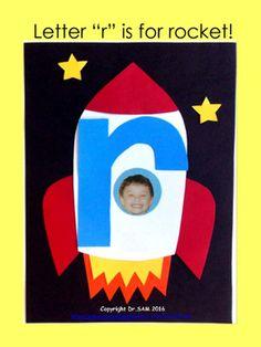"Alphabet Craft: Lowercase Letter ""r"" - Free Alphabet Letter Crafts, Abc Crafts, Preschool Letters, Alphabet Activities, Kindergarten Activities, Preschool Activities, Kids Crafts, Number Crafts, Preschool Learning"