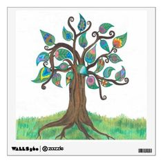 Whimsy Tree Wall Decal - fun gifts funny diy customize personal