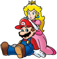 Mario and Peach (2D artwork style) by FamousMari5.deviantart.com on @DeviantArt