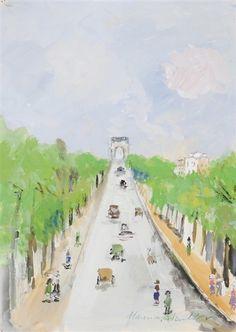 Maurice Utrillo, Les Champs Elysées, (c. 1950-1954)