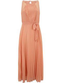 Pink pleat detail maxi - Maxi Dresses - Dresses  - Clothing $89.00