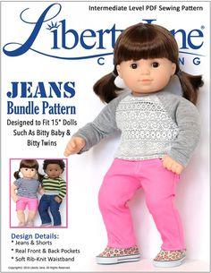 """Jeans Bundle 15"""" Doll Clothes"""