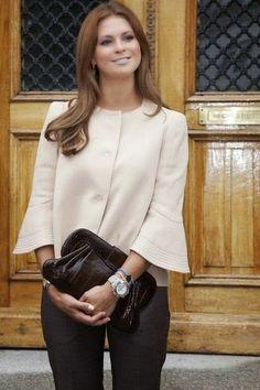 Princesse madeleine in blazer Style Royal, Royal Look, Philip Lim, Sweden Fashion, Mode Chic, Princess Style, Royal Fashion, Royals, Everyday Fashion