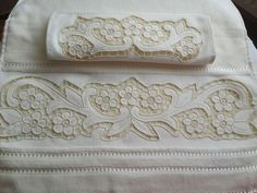 Border Design, My Design, Hand Embroidery, Machine Embroidery, Embroidered Bedding, Pillowcase Pattern, Cut Work, Damask, Baby Dress
