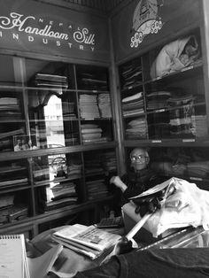 Bijay at Nepal Handloom Silk Industry