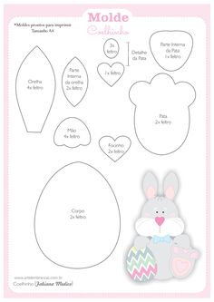 VK is the largest European social network with more than 100 million active users. Easter Art, Easter Crafts, Easter Bunny, Felt Patterns, Applique Patterns, Dyi Crafts, Felt Crafts, Homemade Dolls, Felted Wool Crafts