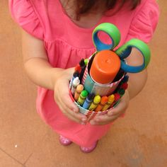 recycled art supply caddy - neat, think I'll make one for each kid!