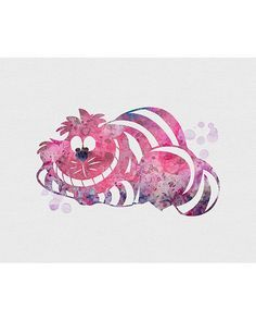 Cheshire Cat Alice in Wonderland Watercolor Art. This art illustration is a composition of digital watercolor images and silhouettes in a minimalist style. Wonderland Tattoo, Wonderland Party, Art Disney, Disney Films, Cheshire Cat Alice In Wonderland, Animation Disney, Chesire Cat, Watercolor Images, Watercolor Disney