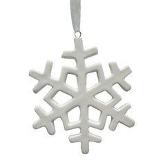 Jolly & Joy Nordic Ceramic Snowflake Hanging Decoration White
