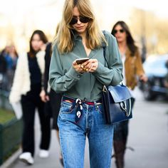 Opt for a silk scarf as a belt