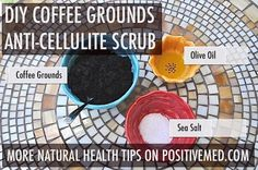 Coffee Grounds Scrub for CellulitePositiveMed | Stay Healthy. Live Happy