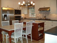 Kitchen Island with Table Attached | kitchen - island photo kitchen-1.jpg