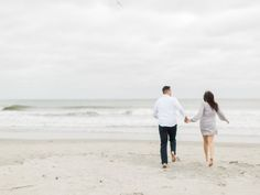 Brittany and Gary's Newport Rhode Island Beach Engagement Photos on The Newport Bride