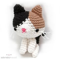 Calico Cat Amigurumi Crochet Cat Pattern Cute par adorablykawaii