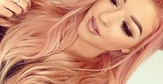 This year peach hair color is very popular. Many women try this hair color. I think it's a beautiful hair color. Suitable for all skin colors. In dark skin it looks very nice. New and chose different hair color peach. Love Hair, Gorgeous Hair, Cabelo Rose Gold, Ombre Rose Gold Hair, Cheveux Oranges, Strawberry Blonde Hair Color, Rose Blonde, Gold Hair Colors, Pastel Coral Hair