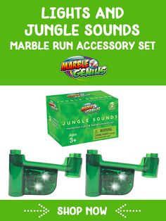 Lights & Jungle Sounds Marble Run Accessory Set Jungle Sounds, Marble Toys, Steam Toys, Steam Learning, Math Stem, Inspired Learning, Child Smile, Button Cell, Learning Through Play