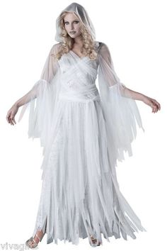 Haunted Beauty Spirit Ghost Ghoul Halloween Costume Mens Style Also Available | eBay